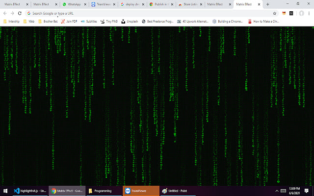 Matrix Effect Chrome