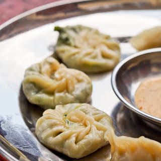 Spinach and Cheese Momos.
