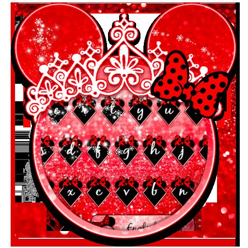 Red Cute Bow keyboard