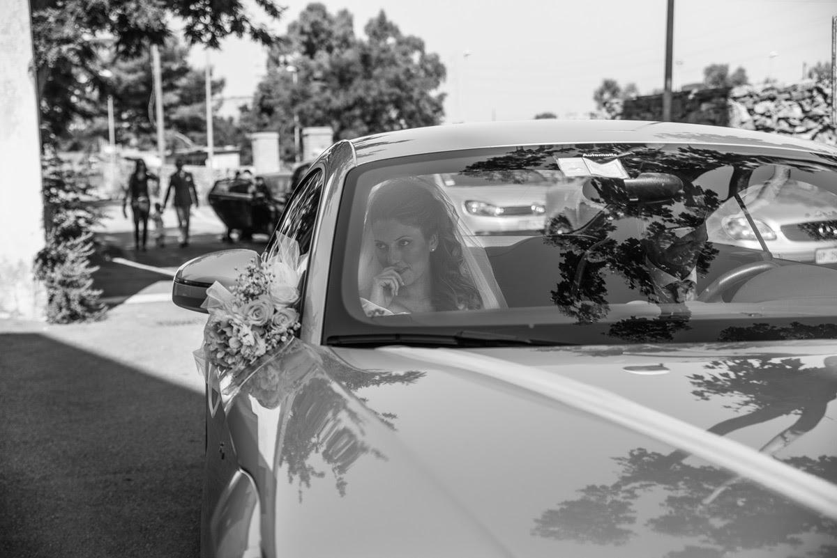La sposa arriva in chiesa