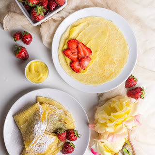 Crepes with Fresh Strawberries.
