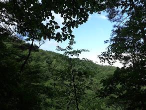 山頂が近づく