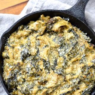 Spinach, Kale & Artichoke Dip.