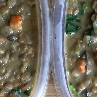 Creamy Spinach Lentils