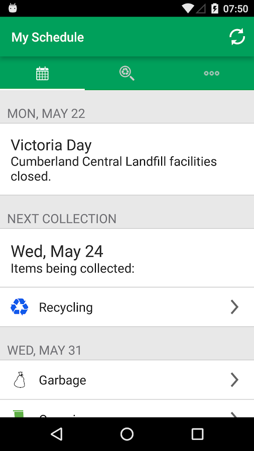 Cumberland County Solid Waste- screenshot