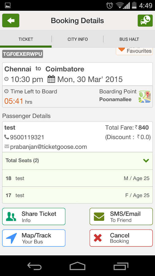Ticketgoose Online Bus Tickets- screenshot