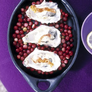 Christmas-time Seafood over Cranberries