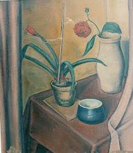 Photo: Stilleben mit Dahlie, Öl auf Leinwand, 1935