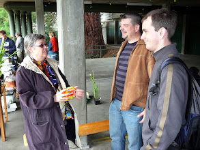 Photo: The Swiss CP-meeting 2010.Irmgard Hartmeyer talking with Richy Blank and the chairman of the German CPS GFP Carsten Paul.
