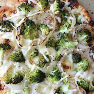 Broccoli Flatbread Pizza.