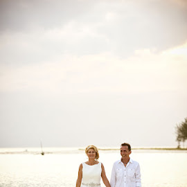 Vintage by Andrew Morgan - Wedding Bride & Groom ( zanzibar, vintage, wedding, sea, beach, bride, groom )