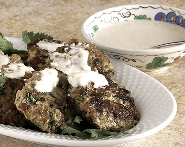 Grated Zucchini Added To The Minced Turkey Moistens Them. Smothered With An Even Lighter Tahini Yoghurt Sauce And You Have A Great Mid Week Summer Dinner.