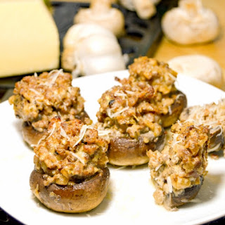 Italian Sausage Stuffed Mushrooms