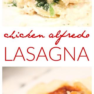 Chicken Alfredo Lasagna.