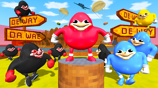 Ugandan Chungus And Knuckles Battle Royale Online Apps On