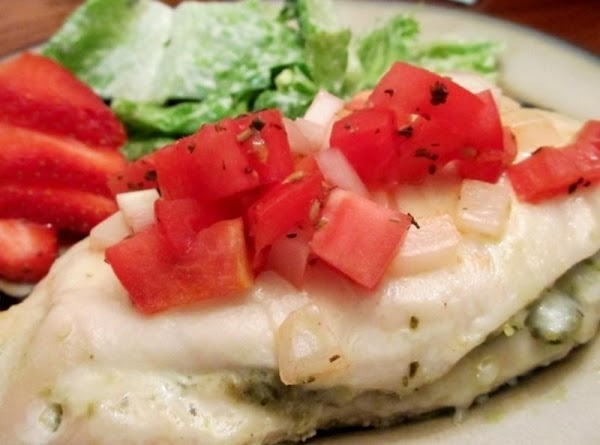 Pesto Bruschetta Baked Chicken Recipe