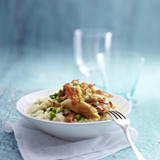 Risotto with Sautéed Chicken, Pancetta and Peas