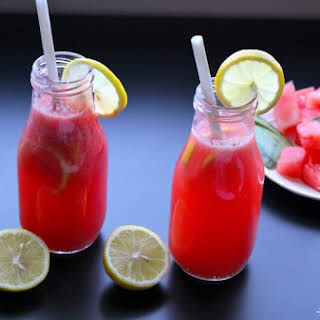 Watermelon Pink Lemonade Cooler -Celebrate Summer and Stay Cool with Icy Pink Cooler Drink!.