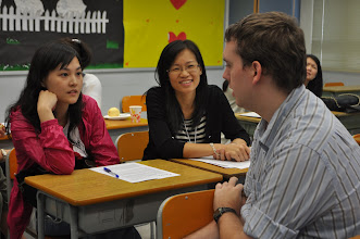 Photo: GEO Eric K. speaking with teachers from The Lutheran Church—Hong Kong Synod schools during a breakout session.
