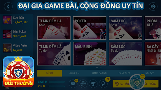 GAME DANH BAI DOI THUONG 2017- screenshot thumbnail