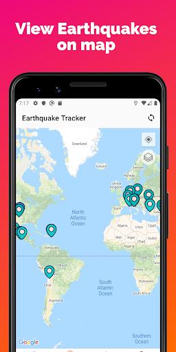 Earthquake Tracker - Latest quakes, Alerts & Map 3.0.1 screenshots 2