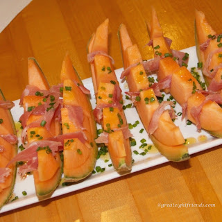 Prosciutto and Melon with Minty Balsamic Glaze Recipe