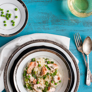 Baked Salmon Risotto
