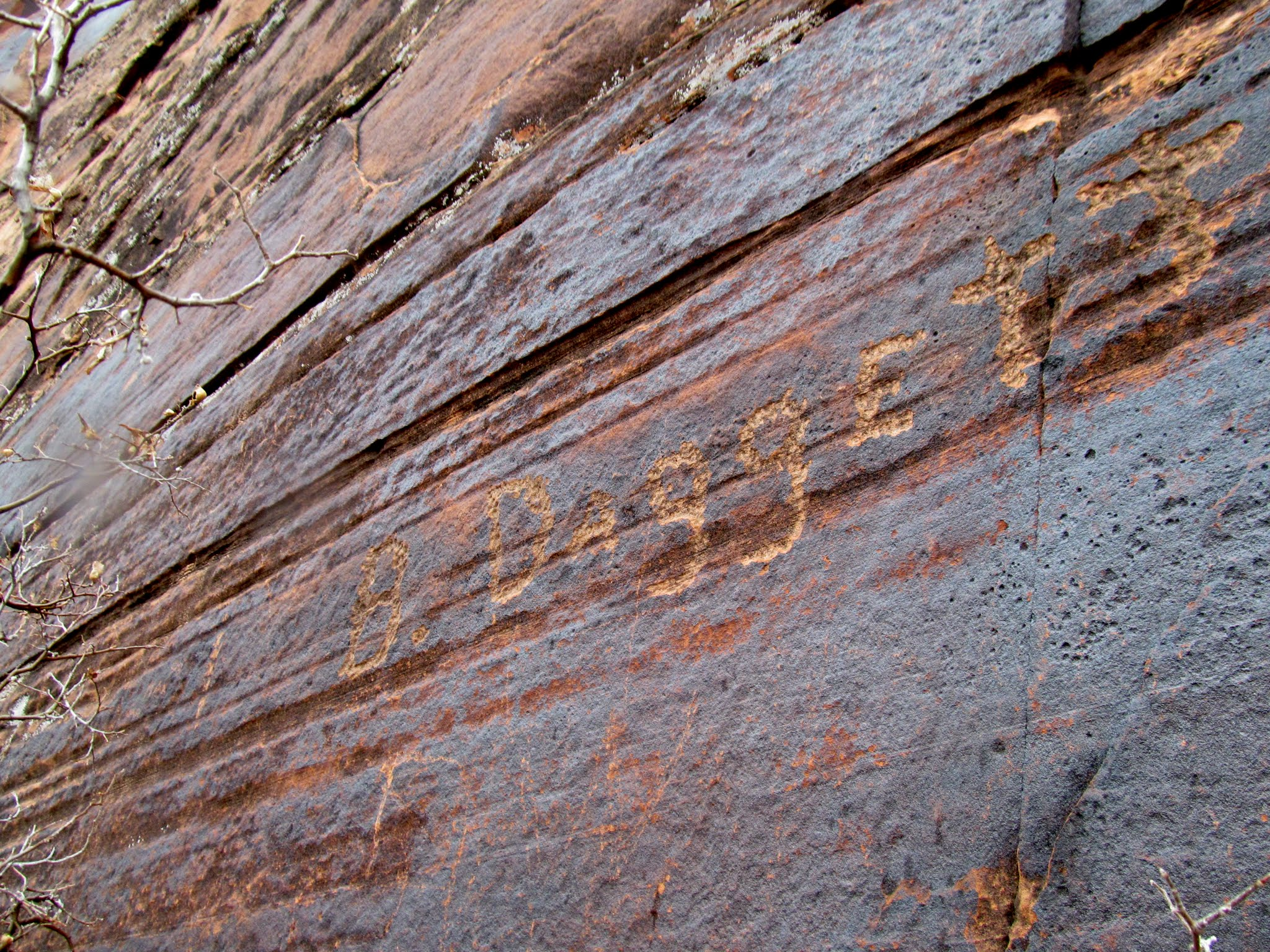 Photo: B. Daggett inscription