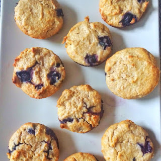 Healthy Blender Blueberry Oat Muffin.