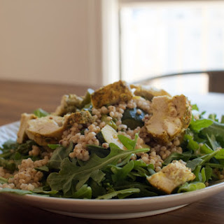 Zucchini and Asparagus Salad with Parchment Baked Herb Chicken