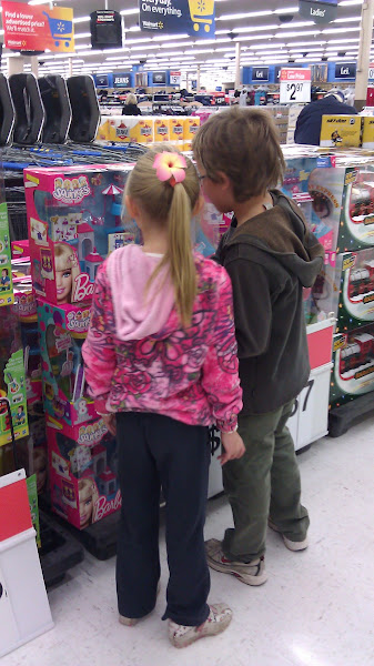 Photo: When we first walked in, the kids were instantly drawn to the toys they have displayed for holiday shopping.