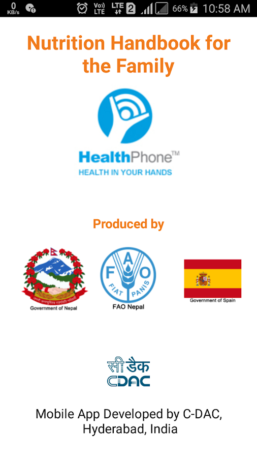 Nutrition English HealthPhone- screenshot