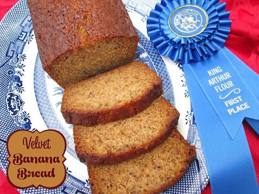 Velvet Banana Bread My Blue Ribbon Winner Veronicas