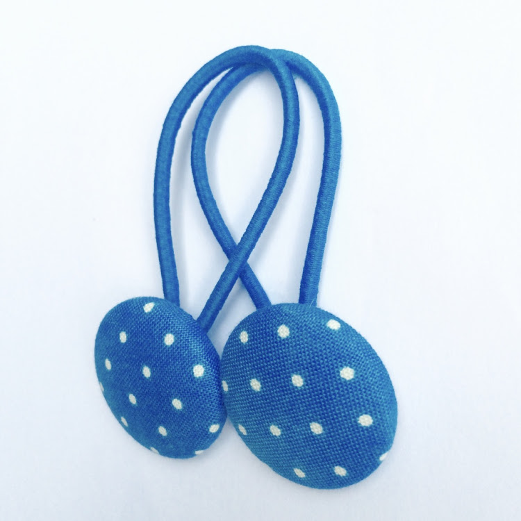 Blue Polka - Medium