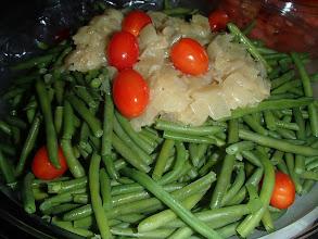 Photo: Haricots verts, vinaigrette à l 'estragon