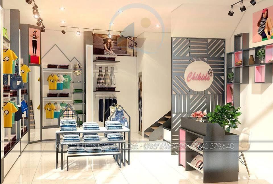 thiết kế shop thời trang trẻ em Chikids 3
