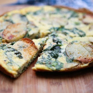 Spinach and Potato Frittata.