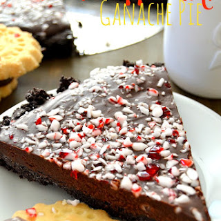 Chocolate Peppermint Ganache Pie.