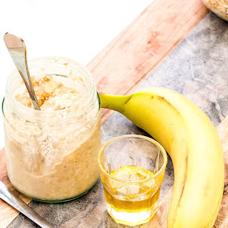 Banana And Peanut Butter Overnight Oats.