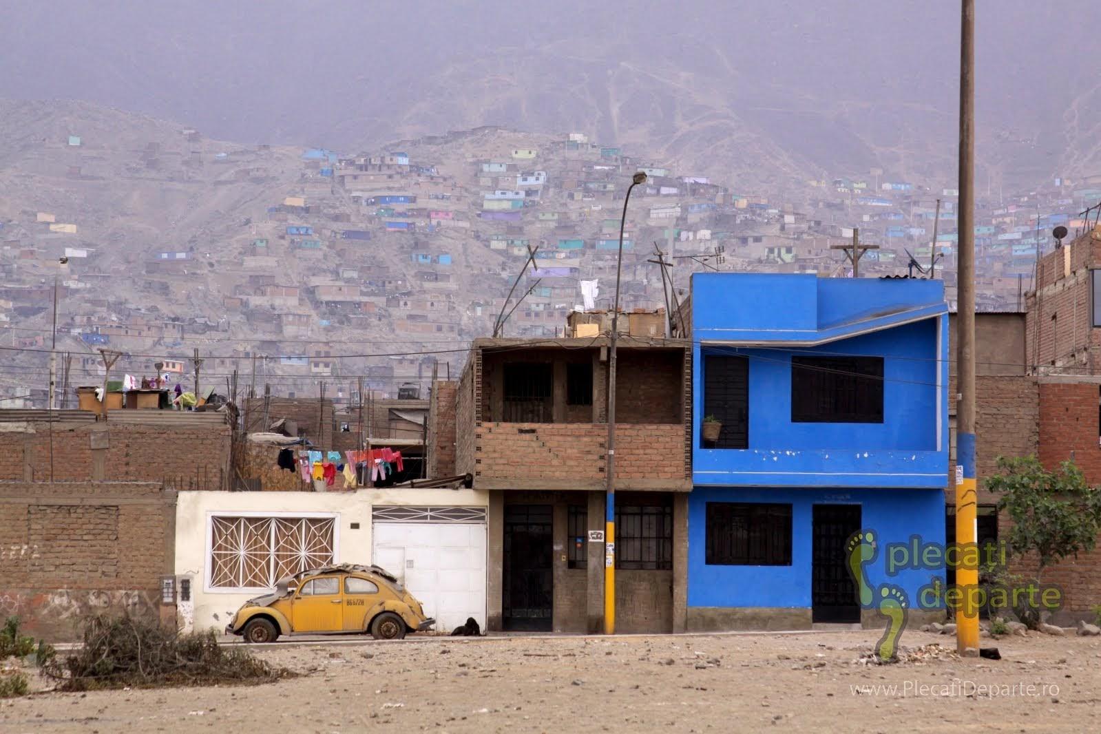peisaj dezolant din cartierul San Juan de Lurigancho, Lima, Peru