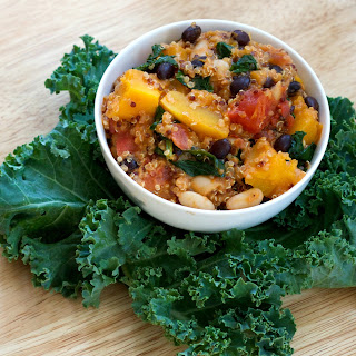 Curried Quinoa with Butternut Squash, Kale and Beans