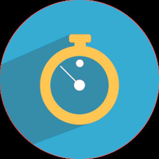 blue clock - widget