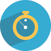 blue clock - widget