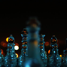 Fight Alone 2 by Ritwick Srivastava - Artistic Objects Other Objects ( lights, vivid, glass, chess, crystal )