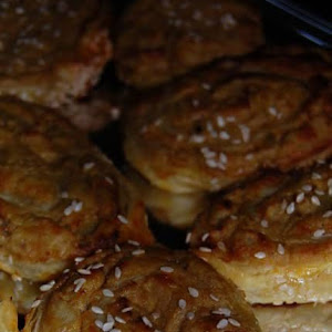Rolled Puff Pastries with Tuna