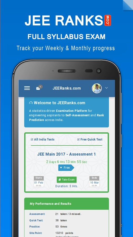 JEE Ranks - IIT Rank Predictor- screenshot