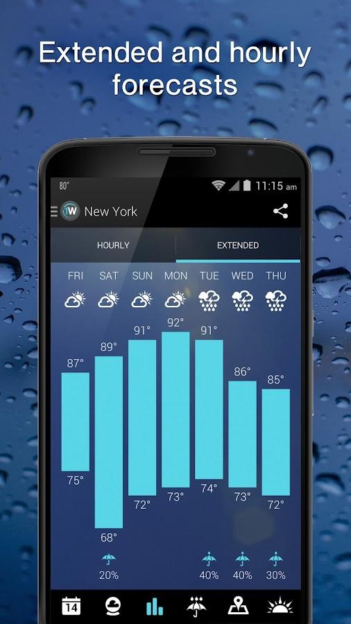 1Weather:Widget Forecast Radar- screenshot