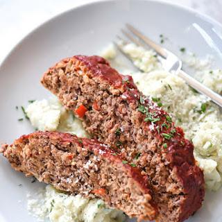 Healthier Turkey Meatloaf With Tomato Glaze.