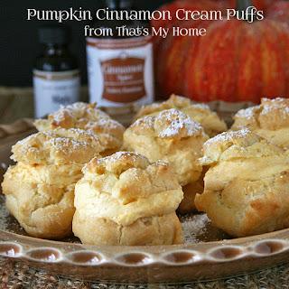Pumpkin Cinnamon Cream Puffs