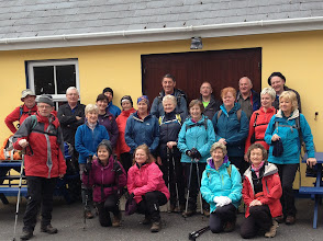 Photo: Group of walkers from Galtee Walking Club and Ballyhoura Bears in Adrigole at the start of day three of the Beara-Breifne Way, St. Patrick's Day, 2014. Photo by Gerard Sheehy.